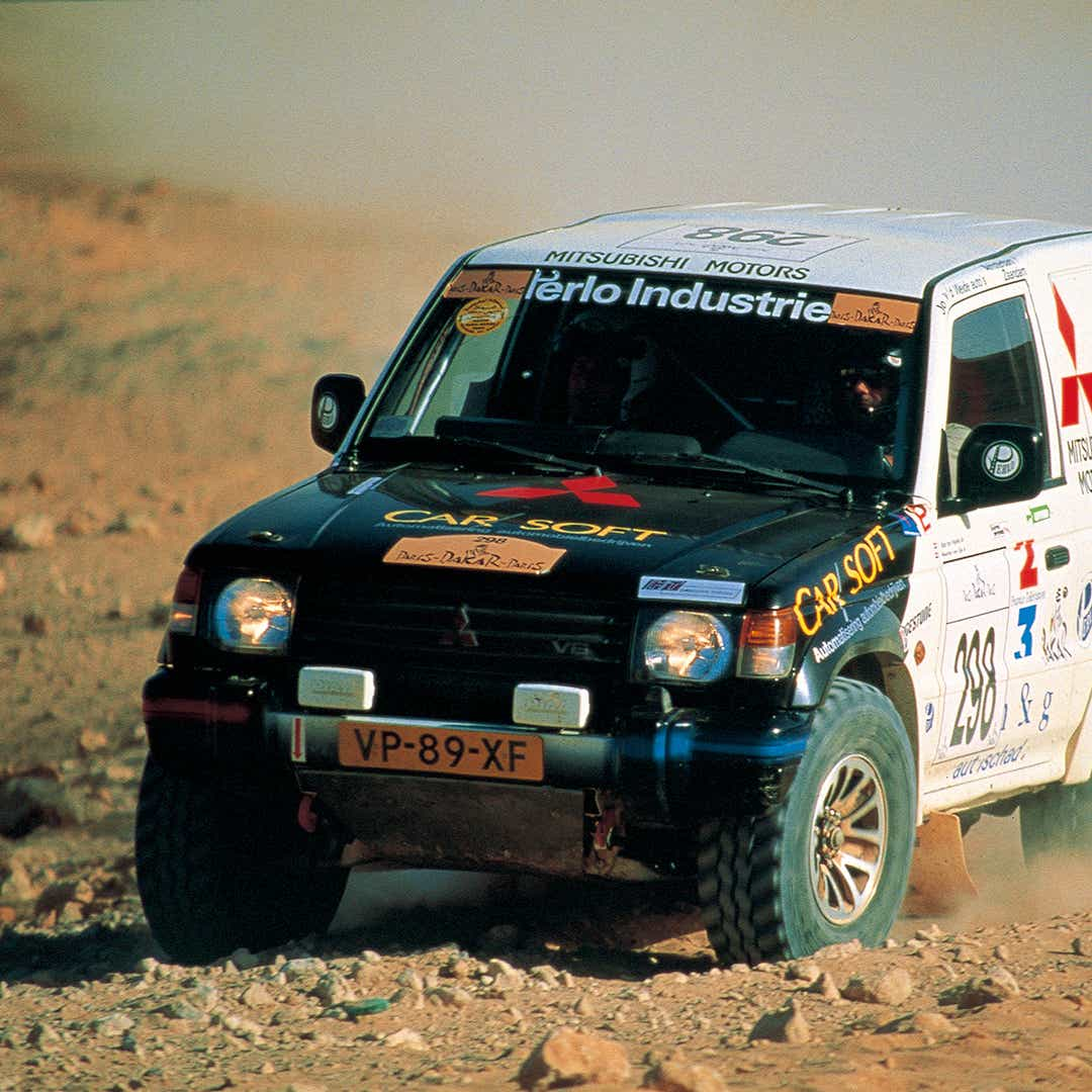 rally car in desert